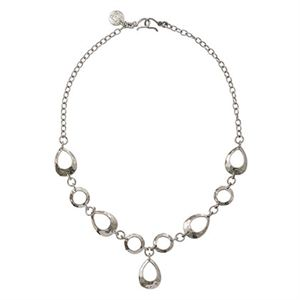 Picture of Teardrop Expression Silver Necklace